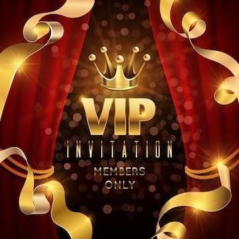 Elegantie en exclusieve feestuitnodiging met gouden luxe kroon.