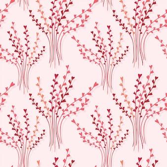 Elegantie naadloze textuur met bloemenachtergrond.