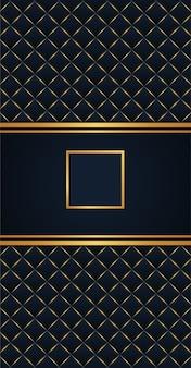 Elegantie stijl gouden frame achtergrond