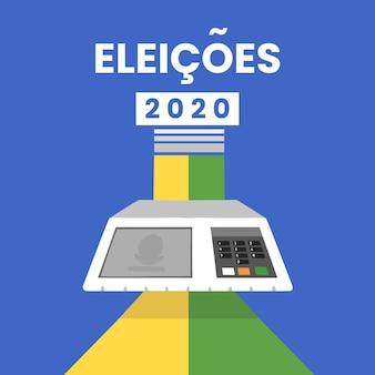 Eleições 2020 achtergrondontwerp