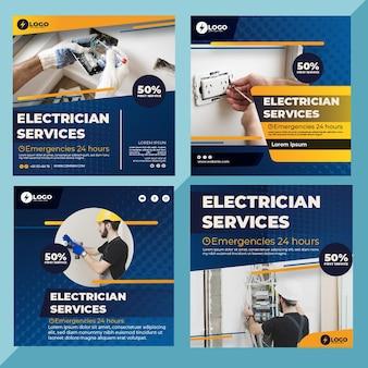 Elektricien instagram-berichten