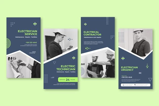 Elektricien instagram-verhalencollectie