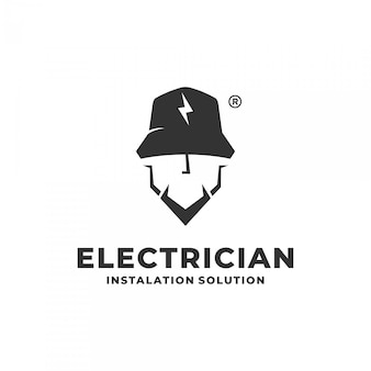 Elektricien logo concept