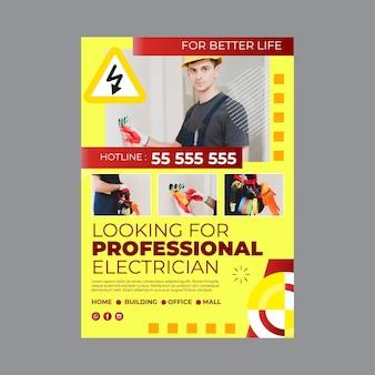 Elektricien poster sjabloon