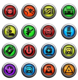 Elektriciteit pictogram. gewoon symbool voor webpictogrammen