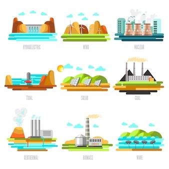 Elektriciteitscentrales en bronnen