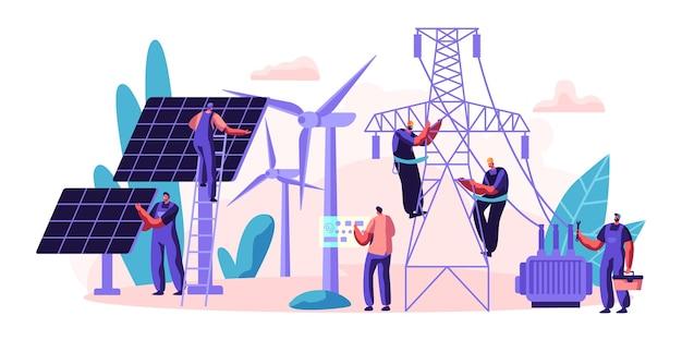 Elektriciteitslevering van energie aan consument. transmissie en distributie van elektriciteit.