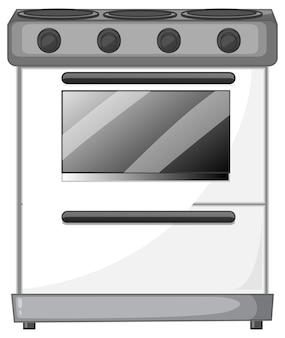 Elektrisch fornuis met oven geïsoleerd op witte achtergrond