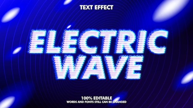 Elektrisch golf bewerkbaar teksteffect