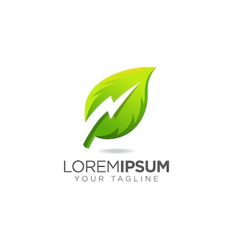 Elektrisch thunder leaf-logo