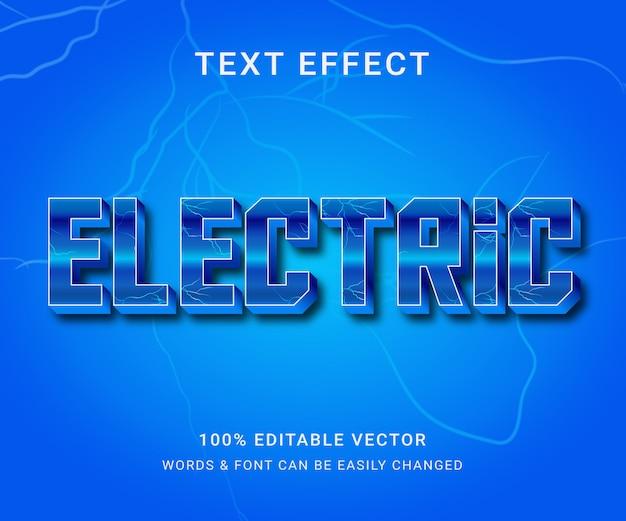 Elektrisch volledig bewerkbaar teksteffect met trendy stijl