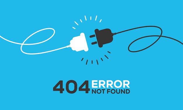Elektrische aansluiting met een stekker. verbinding en ontkoppeling concept. concept van 404-foutverbinding. stekker en stopcontact losgekoppeld. draad, kabel van energie loskoppelen