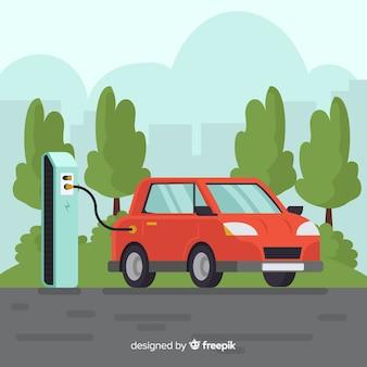 Elektrische auto achtergrond