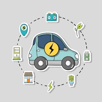 Elektrische auto met batterij-oplaadtechnologie