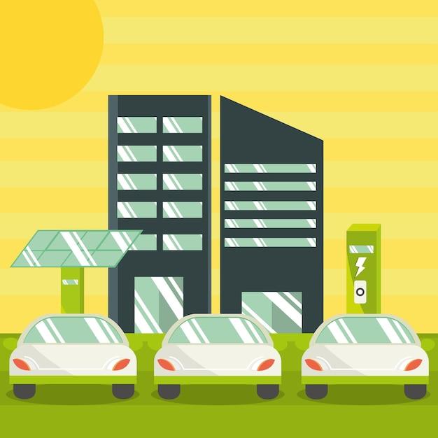 Elektrische auto's groene energie