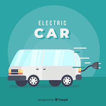 Elektrische bestelwagenachtergrond