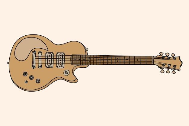 Elektrische gitaar tekenen