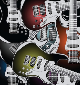 Elektrische gitaren achtergrond