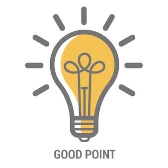 Elektrische lamp lamp pictogrammalplaatje voor poster van creatief nieuw helder idee