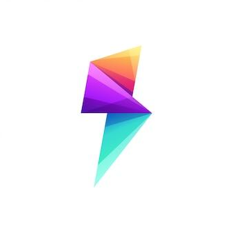Elektrische logo ontwerp vectorillustratie