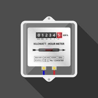 Elektrische meter power meter illustratie