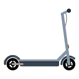 Elektrische scooter op een witte geïsoleerde achtergrond transport om te wandelen en te bezorgen