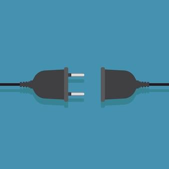 Elektrische stekkerverbinding plat