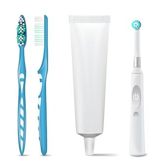 Elektrische tandenborstel met tandpastabuis
