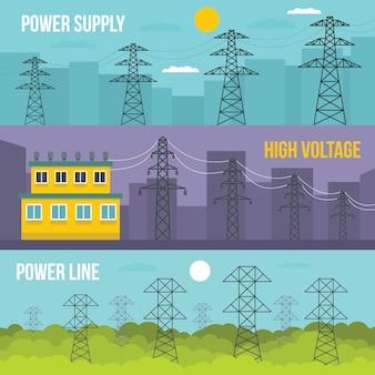Elektrische torenachtergrond