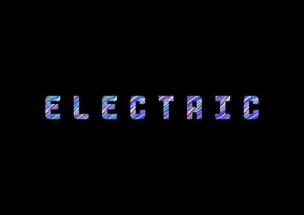 'elektrische' typografie vector