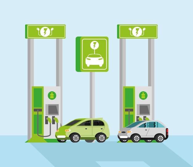 Elektrische voertuigen opladen vehicles