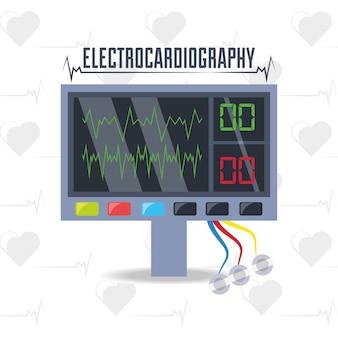Elektrocardiograafmachine om het hartritme te kennen