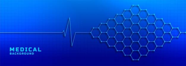 Elektrocardiogram met moleculaire medische structuur en gezondheidszorgachtergrond