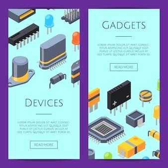 Elektronica kaarten. microchips en elektronische onderdelen