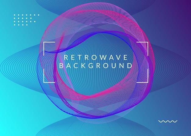 Elektronisch evenement. minimale discotheek banner lay-out. dynamische vloeiende vorm en lijn. neon elektronisch evenement. electro dance dj. trance-geluid. clubfeest poster. flyer voor technomuziek.
