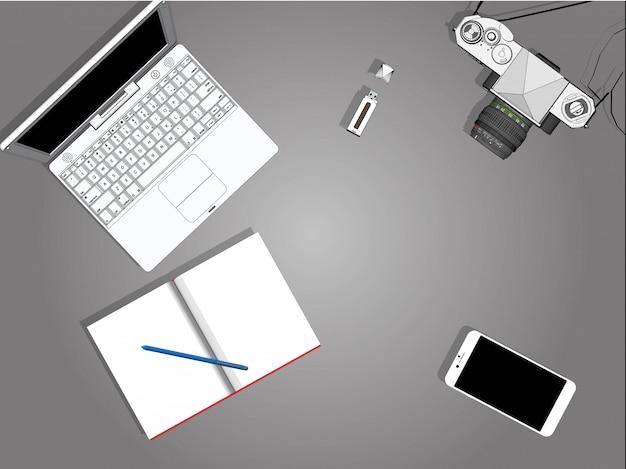 Elektronisch instrument vector ontwerpers en fotografen