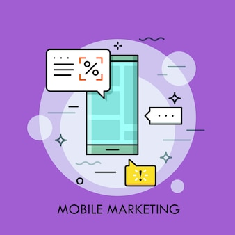 Elektronische aankondiging, mobiele marketing en targeting