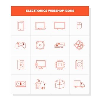 Elektronische apparaten iconen
