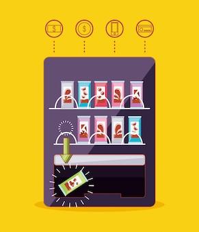 Elektronische automaat voor chocolaatjes