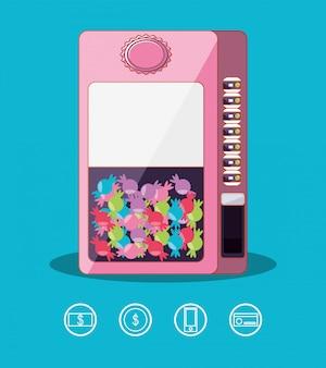 Elektronische automaat voor snoepmachines
