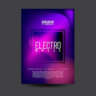 Elektronische dansmuziek flyer