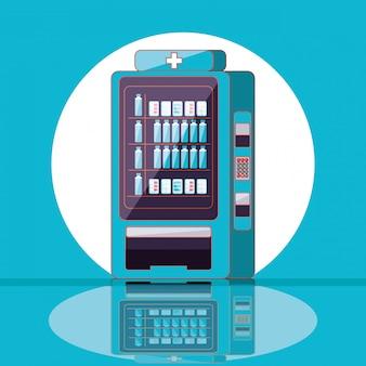 Elektronische dispenser van medicijnen en watermachines