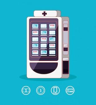 Elektronische dispenser van medicijnmachine