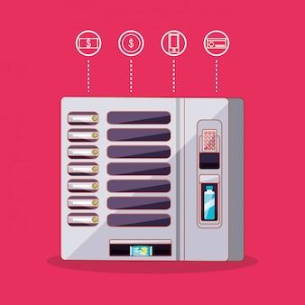 Elektronische drank- en chipsautomaat