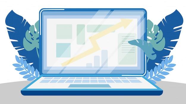 Elektronische financieel verslag vectorillustratie