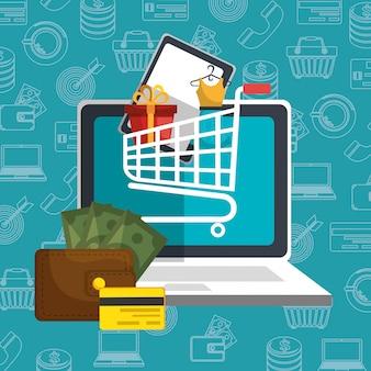 Elektronische handel set pictogrammen