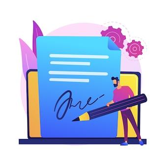 Elektronische handtekeningtechnologie. bedrijfsvalidatie, digitale ondertekening, elektronische documentenverificatie. virtuele overeenkomstbevestiging