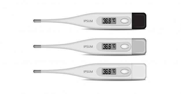 Elektronische medische thermometer voor het meten. van digitale celsius thermometer met temperatuur