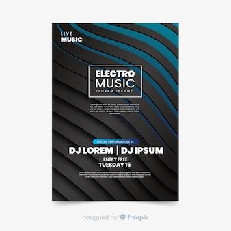 Elektronische muziek abstract sjabloon