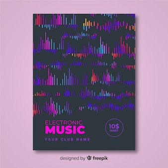 Elektronische muziek festival poster sjabloon